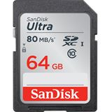 64 GB SanDisk Ultra 80MB/s SDXC Class 10 Retail