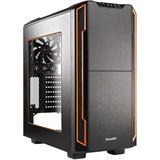 be quiet! Silent Base 600 gedämmt mit Sichtfenster Midi Tower ohne Netzteil schwarz/orange