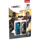 16 GB EMTEC M700 Batman vs. Supermann schwarz USB 2.0
