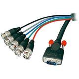 (€8,84*/1m) 1.80m Lindy VGA Adapterkabel VGA 15pol Stecker auf BNC Stecker Schwarz