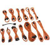 CableMod SE-Series KM3, XM2, XP2/3, FL2, XFX Cable Kit - orange