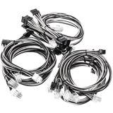 Super Flower Sleeve Cable Kit schwarz/weiß