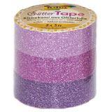 "folia Deko-Klebeband ""Glitter Tape"", rosa/pink/lila"