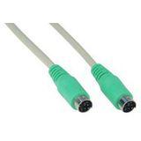 (€2,48*/1m) 2.00m InLine PS/2 Anschlusskabel PS/2 Stecker auf PS/2 Stecker Grün