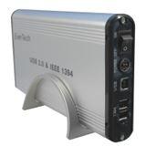 "3.5""(8,89cm) Evertech ET-1340 Firewire Alu IDE USB 2.0 Silber"