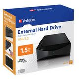 "1500GB Verbatim External Hard Drive 47513 3.5"" (8.9cm) USB 2.0 schwarz"