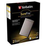 """320GB Verbatim SureFire 2.5"""" (6.35cm) Grau USB2.0"""