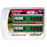 4GB Transcend JetRAM DDR2-800 DIMM CL6 Dual Kit