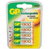 GP Batteries Akkus AA / Mignon Nickel-Metall-Hydrid 1300 mAh 4er Pack