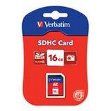 16 GB Verbatim Standard SDHC Class 4 Bulk