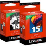 Lexmark Druckkopf mit Tinte 14/15 80D2979 farbig