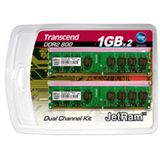 2GB Transcend JetRAM DDR2-800 DIMM CL5 Dual Kit