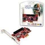 LogiLink LogiLink PCI Express Schnittstellenkarte SATA 1x + ESATA 1x + 1x IDE