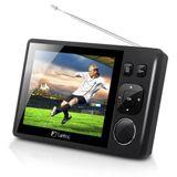 """3.5"""" (8,90cm) Fantec LCD TV DTV-35 Tragbarer Fernseher DVB-T Schwarz"""