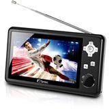 """4.3"""" (10,90cm) Fantec LCD TV DTV-43 Tragbarer Fernseher DVB-T Schwarz RETAIL"""