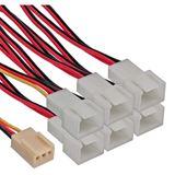 InLine 3-pin-Molex Buchse auf 6x 3-pin Molex Stecker Adapterkabel für Lüfter (33436)
