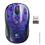 Logitech Wireless M305 Midnight Garde Optische Maus Lila USB