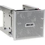 "Lian Li silberner 3x 5.25"" HDD Käfig für 4x 3.5"" und 2x 2.5"" (EX-36A1)"