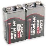ANSMANN Alkaline 9V / E Block Alkaline 550 mAh 2er Pack