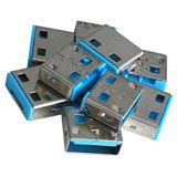 Lindy USB Port Schloss (10 Stück) OHNE Schlüssel: Bblau