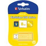 8 GB Verbatim Store `n` Go PinStripe gelb USB 2.0