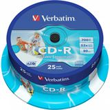 Verbatim CD-R 700 MB bedruckbar 25er Spindel (43439)
