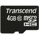 4 GB Transcend Extreme-Speed microSDHC Class 10 Bulk