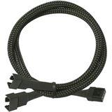 Nanoxia 30 cm schwarzes Y-Kabel für 4-Pin PWM (NXPWY30)