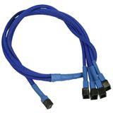 Nanoxia 60cm blaues Adapterkabel für 3-Pin Molex zu 4x 3-Pin (NX34A60B)