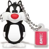 8 GB EMTEC L100 Sylvester schwarz/weiss USB 2.0