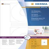 Herma 4471 CD-Etiketten 1.6x1.6 cm (100 Blatt (200 Etiketten))