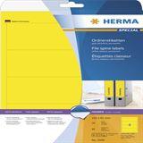 Herma 5096 gelb Ordneretiketten 19.2x6.1 cm (20 Blatt (80 Etiketten))