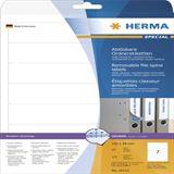 Herma 10155 ablösbar blickdicht Ordneretiketten 19.2x3.8 cm (25 Blatt (175 Etiketten))