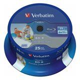 Verbatim BD-R 25 GB bedruckbar 25er Spindel (43811)