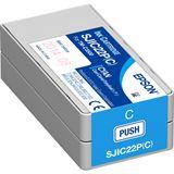 Epson Tintenpatrone cyan für TM-C3500