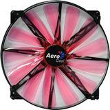 AeroCool Lightning 200x200x20mm 700 U/min 16.5 dB(A) schwarz/rot/transparent