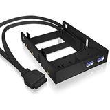 """RaidSonic Icy Box 2x 2,5"""" 2x USB 3.0 Einbaurahmen für 3,5"""" Einbauschächte (IB-AC615)"""