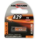 Ansmann Alkaline Batterie, 9V, A29, 1er Pack (1510-0008)