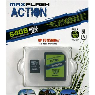 64 GB MAXFLASH Action microSDXC Class 10 U3 Retail