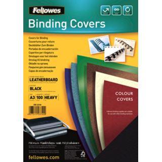 Fellowes Deckblatt Delta, Lederstruktur, DIN A3, schwarz
