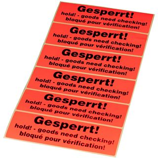 """smartboxpro Hinweis-Etikettenrolle """"Gesperrt!"""""""