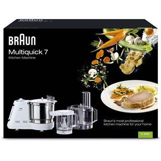 Braun Küchenmaschine K 3000R weiß/silber