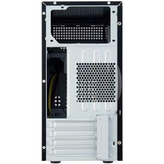 Chieftec Uni Series BD-02B-SL Mini Tower ohne Netzteil schwarz/silber