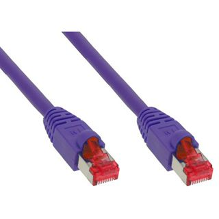 (€0,68*/1m) 25.00m InLine Cat. 6 Patchkabel S/STP PiMF RJ45 Stecker auf RJ45 Stecker Pink