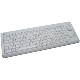 Perixx Periboard 707 Touchpad Tastatur Weiß Deutsch USB
