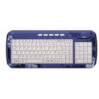 Saitek Expression Rock Chick Tastatur Blau Deutsch USB