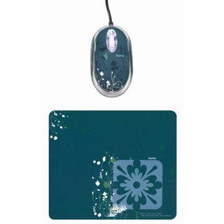 Saitek Expression Mouse & Pad Petal Optische Maus Grün USB