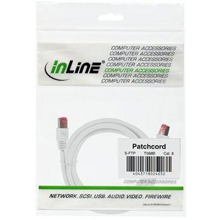 (€13,00*/1m) 0.30m InLine Cat. 6 Patchkabel S/FTP PiMF RJ45 Stecker auf RJ45 Stecker Weiß Kupfer