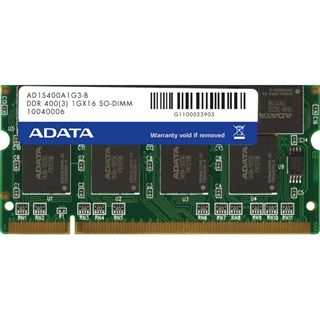 512MB ADATA Value DDR-400 SO-DIMM CL3 Single
