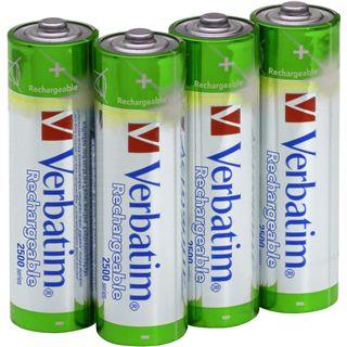 Verbatim HR03 Nickel-Metall-Hydrid AA Mignon Akku 2500 mAh 4er Pack
